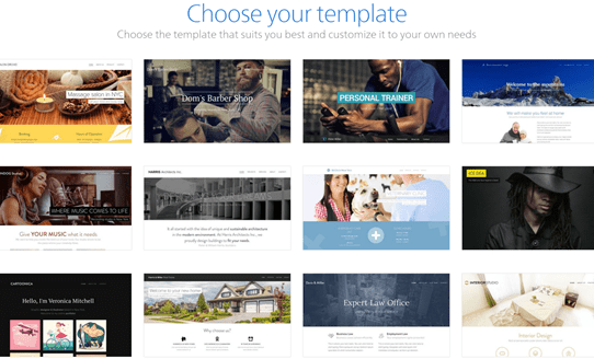Create a Website with Free Templates
